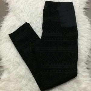 Si Sono black geometric textured skinny pants